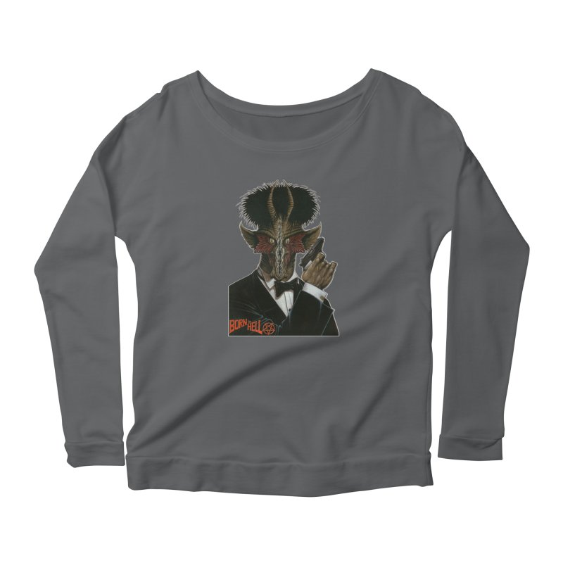 Born in Hell Women's Scoop Neck Longsleeve T-Shirt by Ferran Xalabarder's Artist Shop