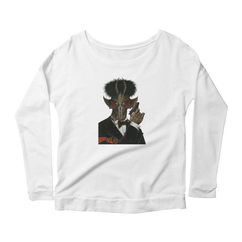 Born in Hell Women's Scoop Neck Longsleeve T-Shirt by Ferran Xalabarder's Artist Shop