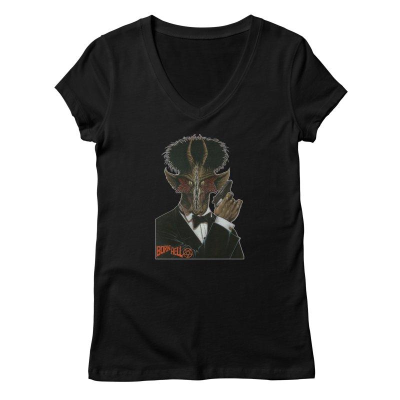Born in Hell Women's V-Neck by Ferran Xalabarder's Artist Shop