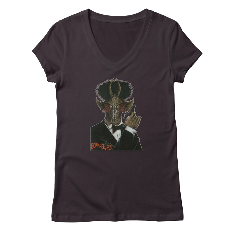 Born in Hell Women's V-Neck by Ferran Xalabarder's Artist Shop