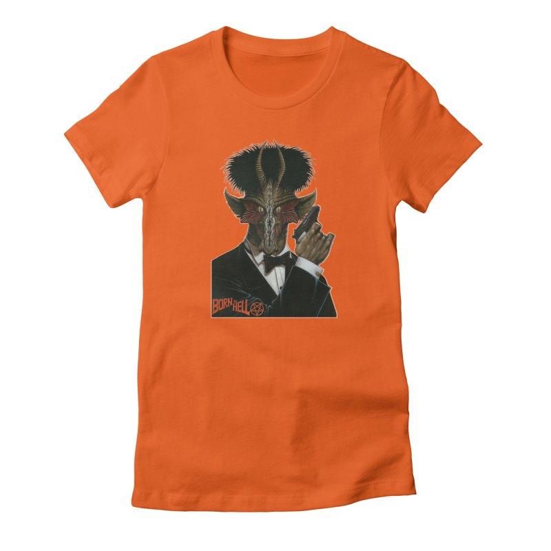 Born in Hell Women's Fitted T-Shirt by Ferran Xalabarder's Artist Shop
