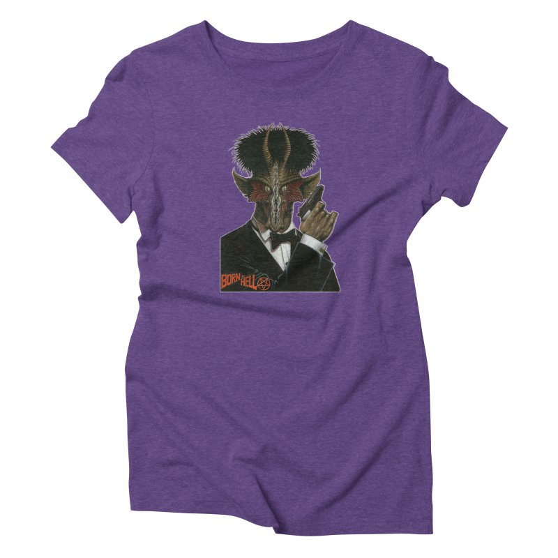 Born in Hell Women's Triblend T-Shirt by Ferran Xalabarder's Artist Shop
