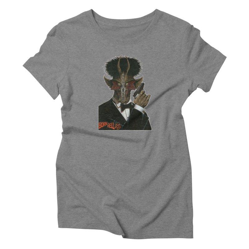 Born in Hell Women's Triblend T-Shirt by Ferran Xalabarder's Artist Shop