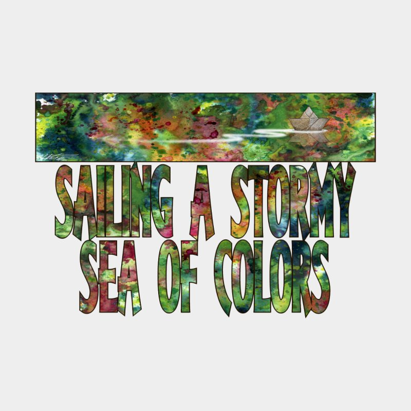 Sailing a Stormy Sea of Colors Women's Tank by Ferran Xalabarder's Artist Shop