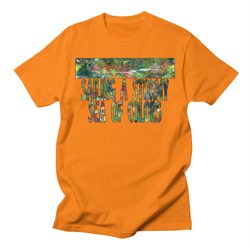 Sailing a Stormy Sea of Colors Men's T-Shirt by Ferran Xalabarder's Artist Shop