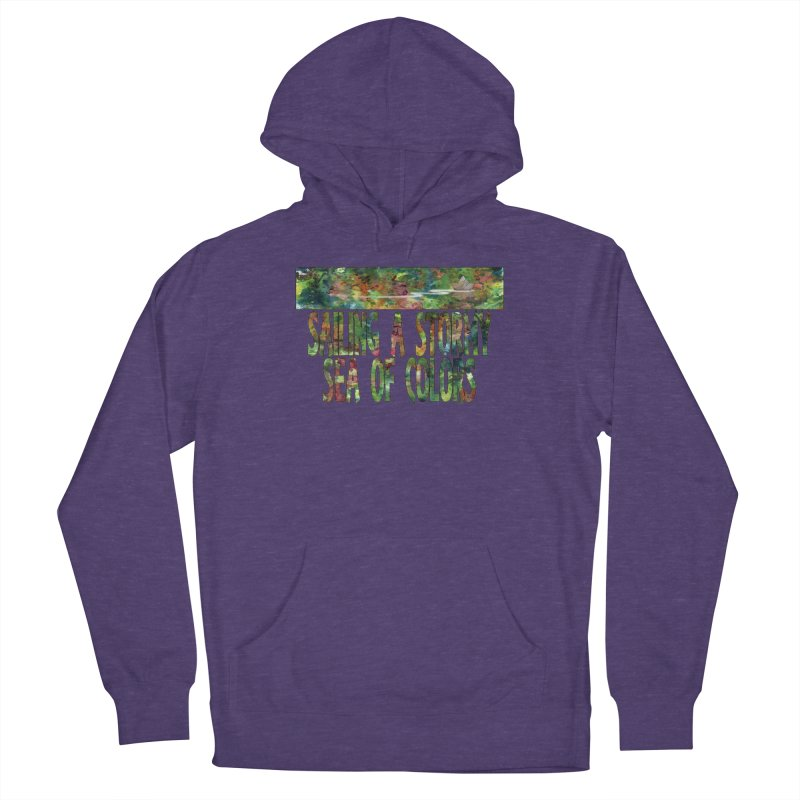 Sailing a Stormy Sea of Colors Men's Pullover Hoody by Ferran Xalabarder's Artist Shop