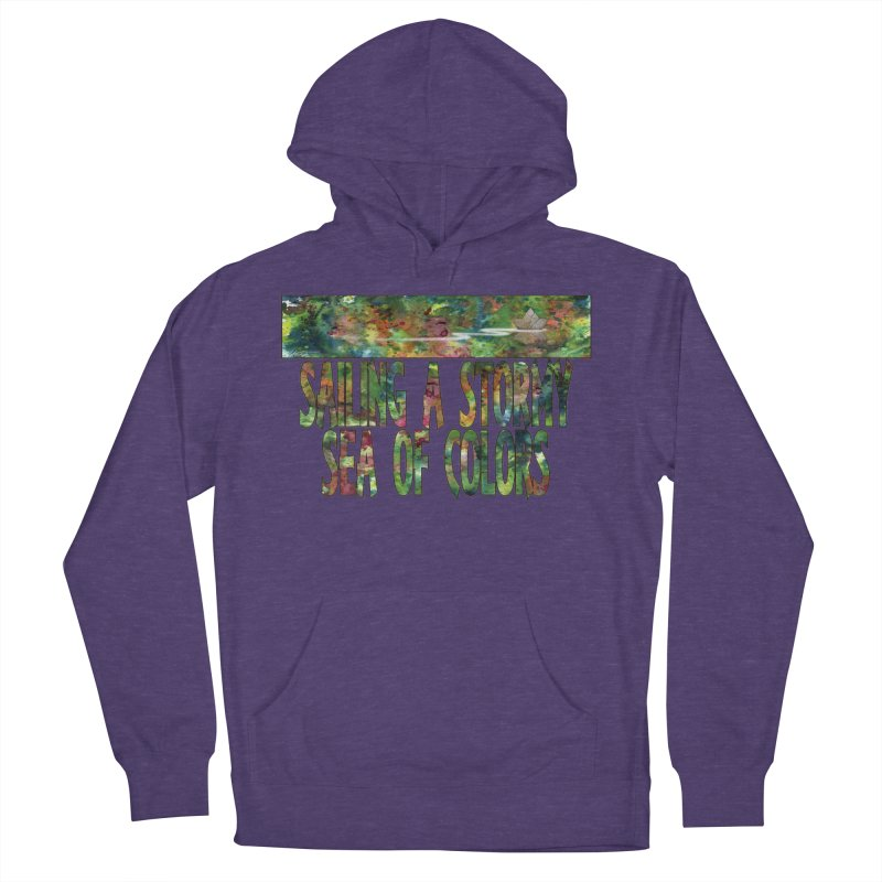 Sailing a Stormy Sea of Colors Women's French Terry Pullover Hoody by Ferran Xalabarder's Artist Shop