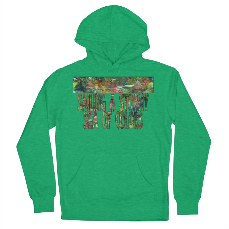 Sailing a Stormy Sea of Colors Men's French Terry Pullover Hoody by Ferran Xalabarder's Artist Shop