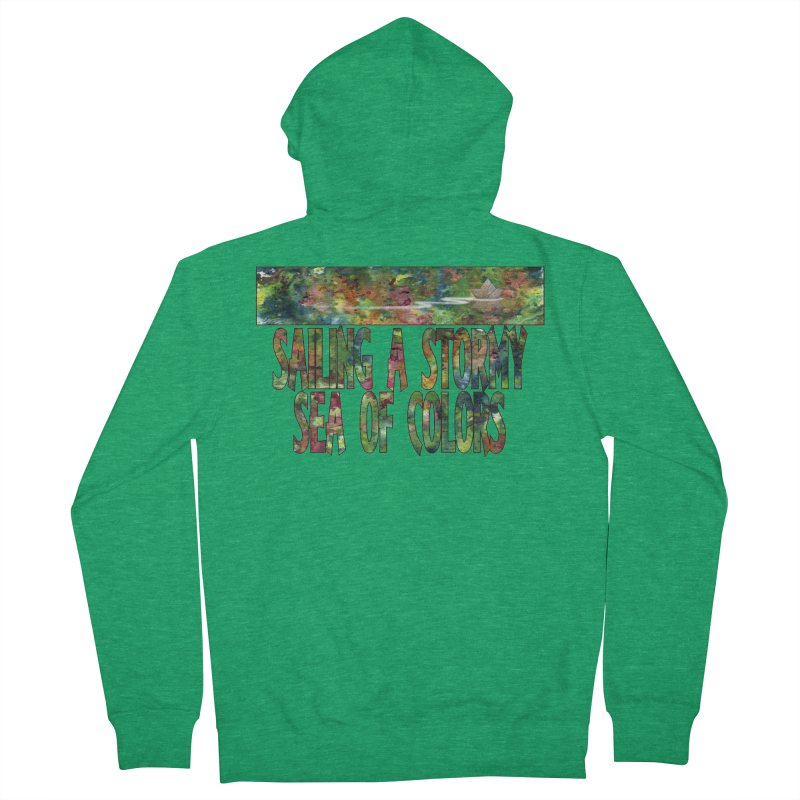 Sailing a Stormy Sea of Colors Women's Zip-Up Hoody by Ferran Xalabarder's Artist Shop