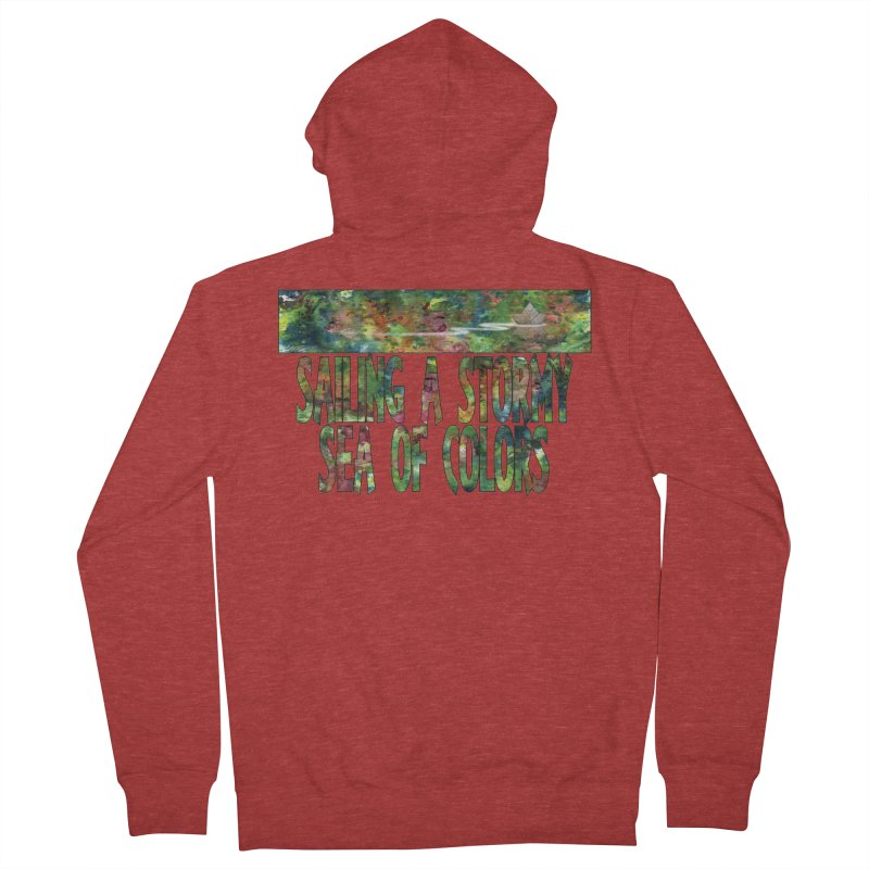 Sailing a Stormy Sea of Colors Women's French Terry Zip-Up Hoody by Ferran Xalabarder's Artist Shop