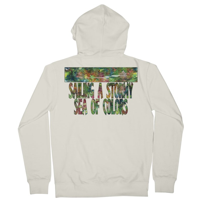 Sailing a Stormy Sea of Colors Men's Zip-Up Hoody by Ferran Xalabarder's Artist Shop