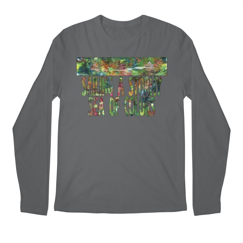 Sailing a Stormy Sea of Colors Men's Longsleeve T-Shirt by Ferran Xalabarder's Artist Shop