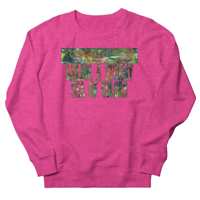 Sailing a Stormy Sea of Colors Men's Sweatshirt by Ferran Xalabarder's Artist Shop