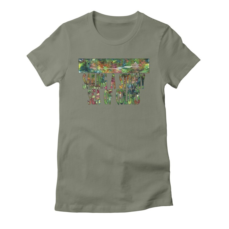 Sailing a Stormy Sea of Colors Women's T-Shirt by Ferran Xalabarder's Artist Shop