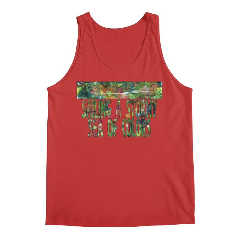 Sailing a Stormy Sea of Colors Men's Tank by Ferran Xalabarder's Artist Shop
