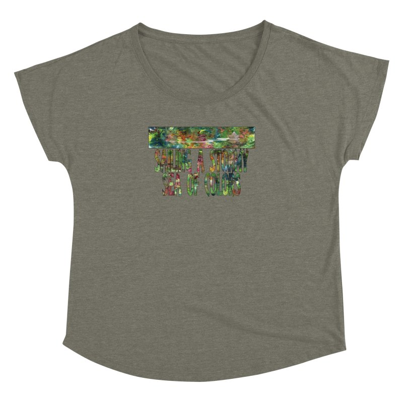 Sailing a Stormy Sea of Colors Women's Dolman Scoop Neck by Ferran Xalabarder's Artist Shop