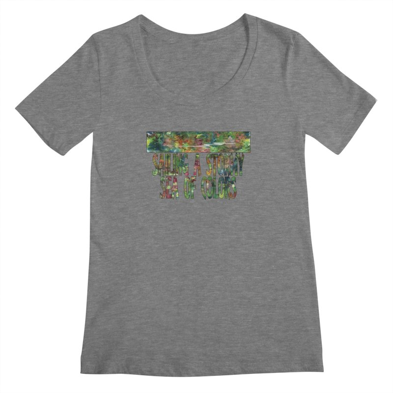 Sailing a Stormy Sea of Colors Women's Scoopneck by Ferran Xalabarder's Artist Shop