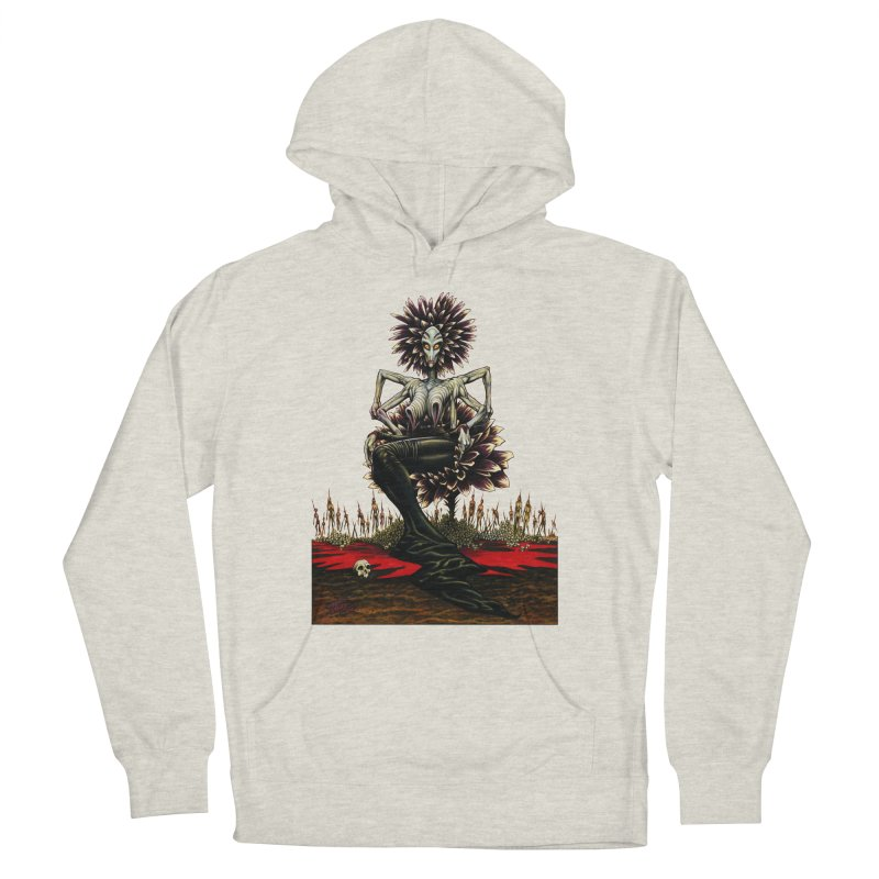 The Pain Sucker Goddess (silhouette) Women's French Terry Pullover Hoody by Ferran Xalabarder's Artist Shop