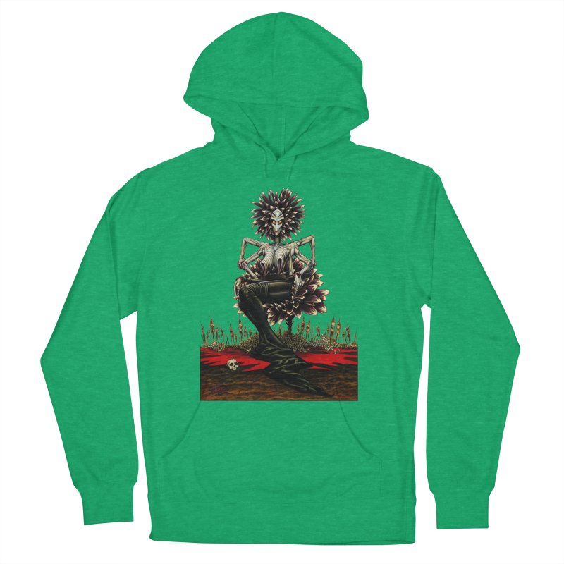 The Pain Sucker Goddess (silhouette) Men's French Terry Pullover Hoody by Ferran Xalabarder's Artist Shop