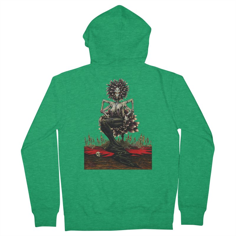 The Pain Sucker Goddess (silhouette) Women's French Terry Zip-Up Hoody by Ferran Xalabarder's Artist Shop