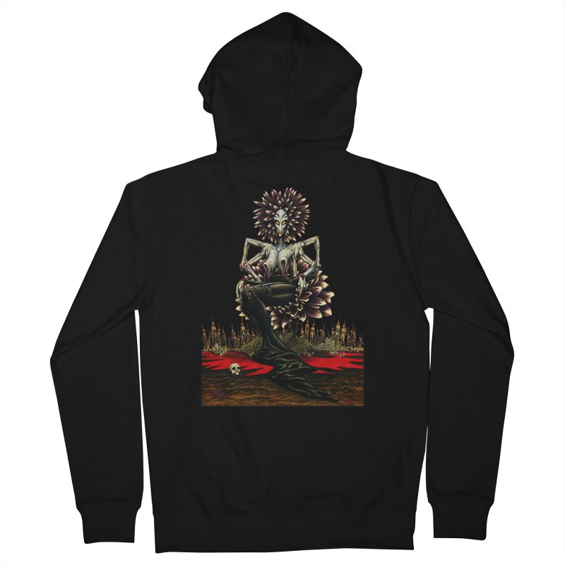 The Pain Sucker Goddess (silhouette) Men's French Terry Zip-Up Hoody by Ferran Xalabarder's Artist Shop