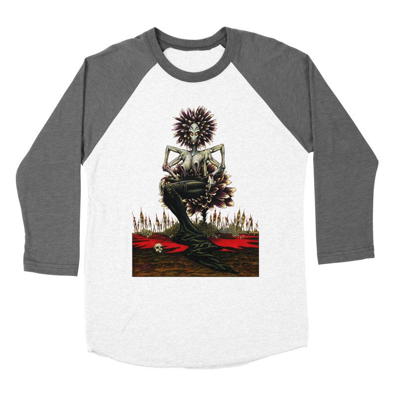 The Pain Sucker Goddess (silhouette) Women's Baseball Triblend Longsleeve T-Shirt by Ferran Xalabarder's Artist Shop