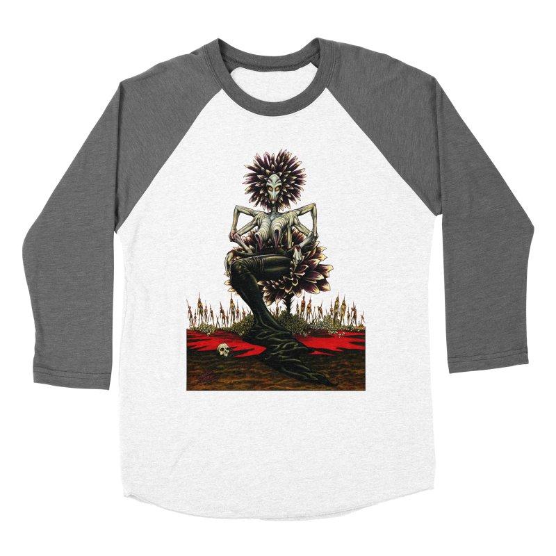 The Pain Sucker Goddess (silhouette) Men's Baseball Triblend T-Shirt by Ferran Xalabarder's Artist Shop