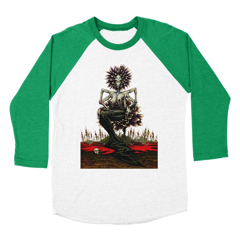 The Pain Sucker Goddess (silhouette) Men's Baseball Triblend Longsleeve T-Shirt by Ferran Xalabarder's Artist Shop