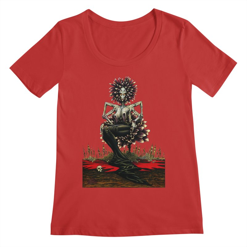 The Pain Sucker Goddess (silhouette) Women's Regular Scoop Neck by Ferran Xalabarder's Artist Shop