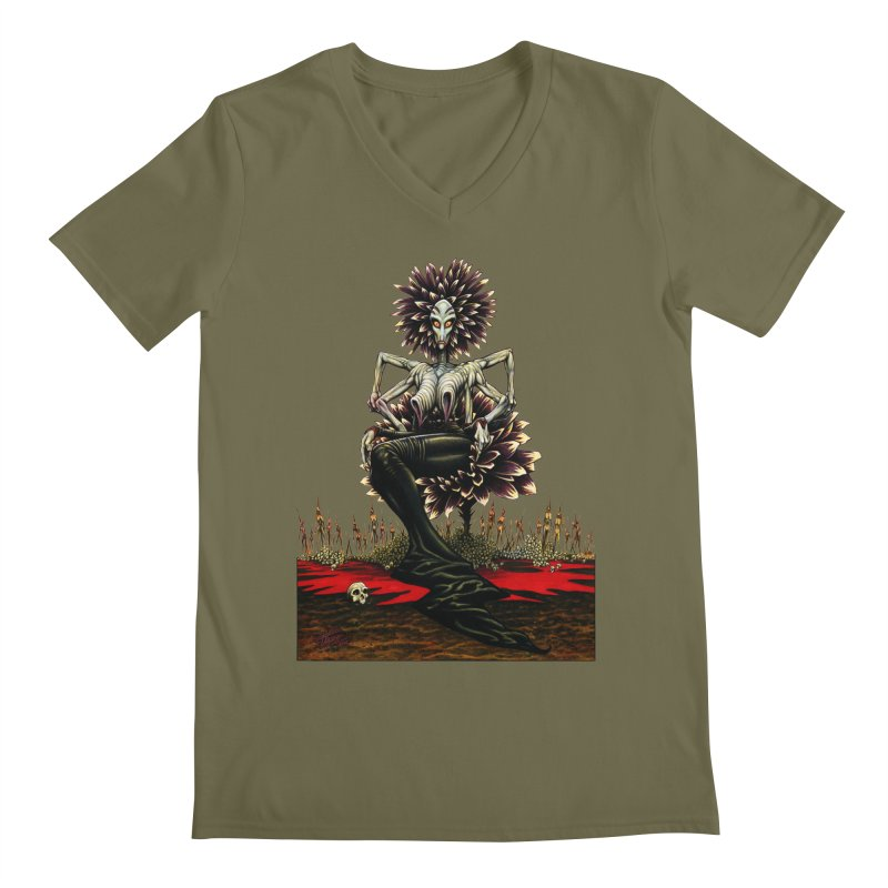 The Pain Sucker Goddess (silhouette) Men's Regular V-Neck by Ferran Xalabarder's Artist Shop