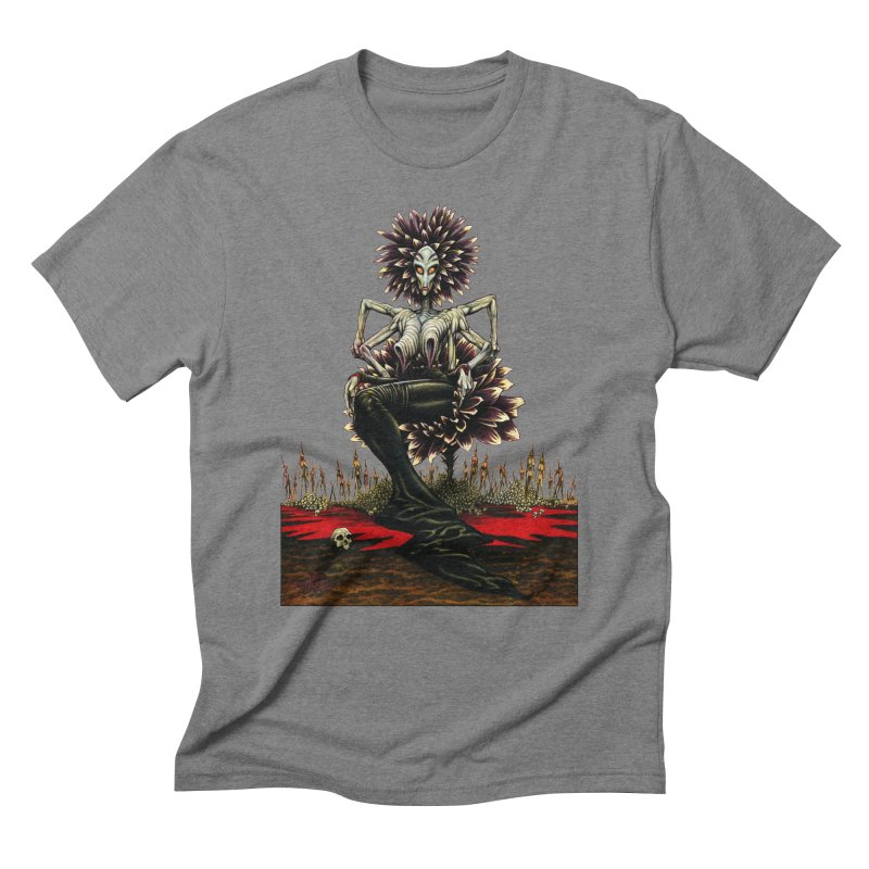 The Pain Sucker Goddess (silhouette) Men's Triblend T-shirt by Ferran Xalabarder's Artist Shop
