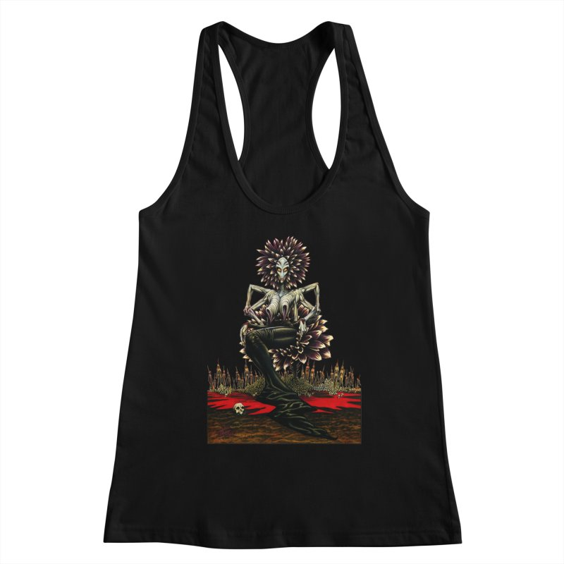 The Pain Sucker Goddess (silhouette) Women's Tank by Ferran Xalabarder's Artist Shop