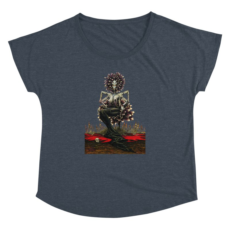 The Pain Sucker Goddess (silhouette) Women's Dolman Scoop Neck by Ferran Xalabarder's Artist Shop