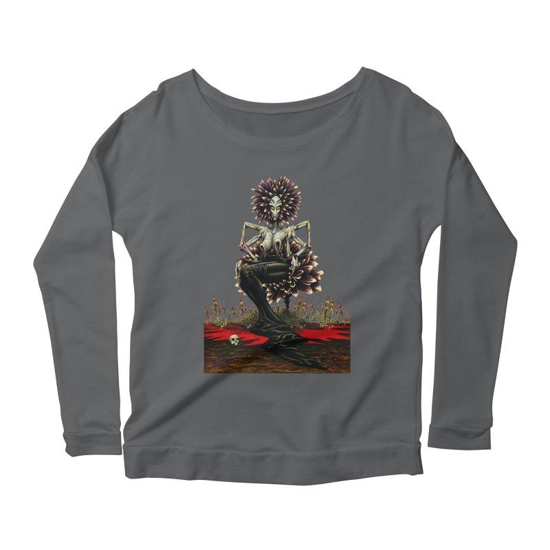 The Pain Sucker Goddess (silhouette) Women's Scoop Neck Longsleeve T-Shirt by Ferran Xalabarder's Artist Shop