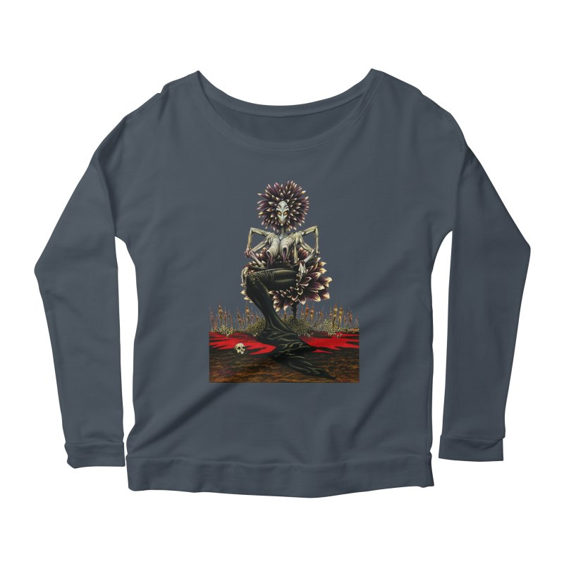 The Pain Sucker Goddess (silhouette) Women's Scoop Neck Longsleeve T-Shirt by Ferran Xalabarder's Artist Shop