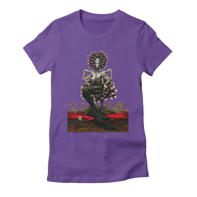 The Pain Sucker Goddess (silhouette) Women's Fitted T-Shirt by Ferran Xalabarder's Artist Shop
