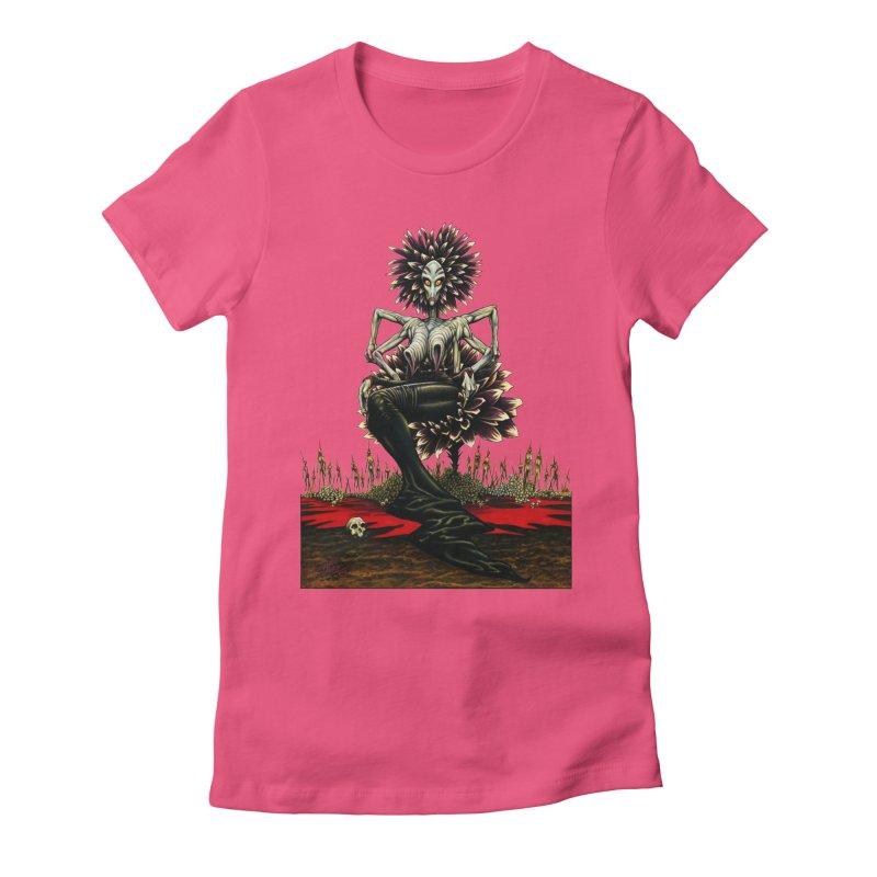 The Pain Sucker Goddess (silhouette) Women's Fitted T-Shirt by Ferran Xalabarder's Artist Shop