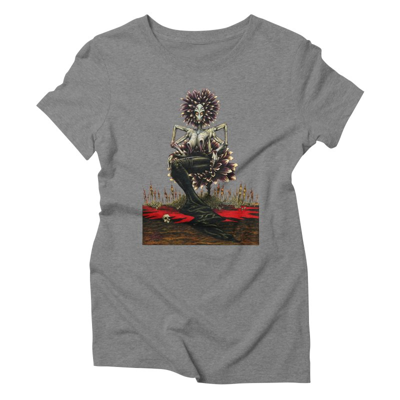 The Pain Sucker Goddess (silhouette) Women's Triblend T-Shirt by Ferran Xalabarder's Artist Shop