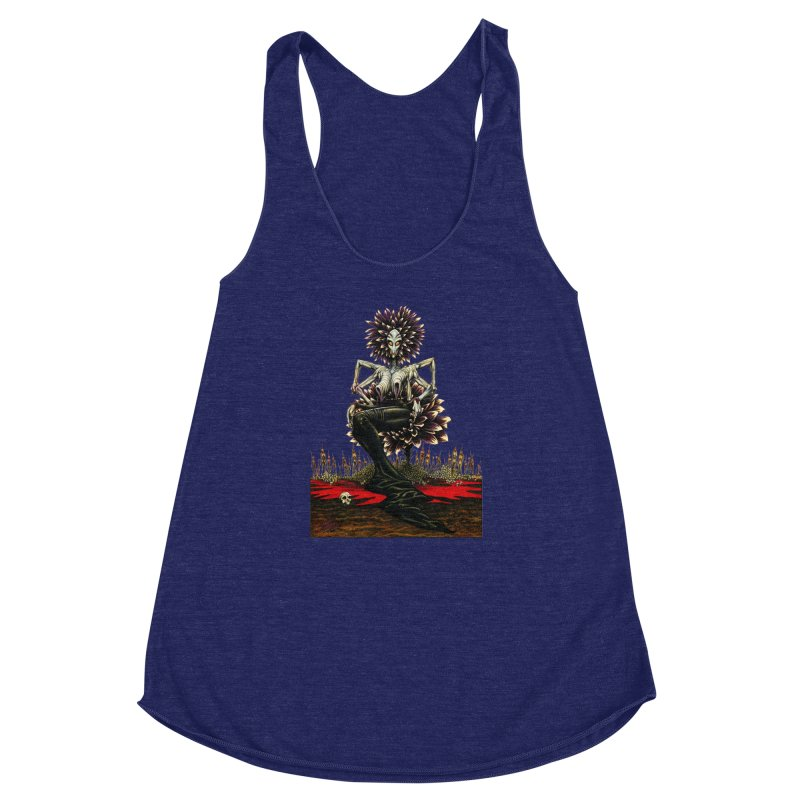 The Pain Sucker Goddess (silhouette) Women's Racerback Triblend Tank by Ferran Xalabarder's Artist Shop