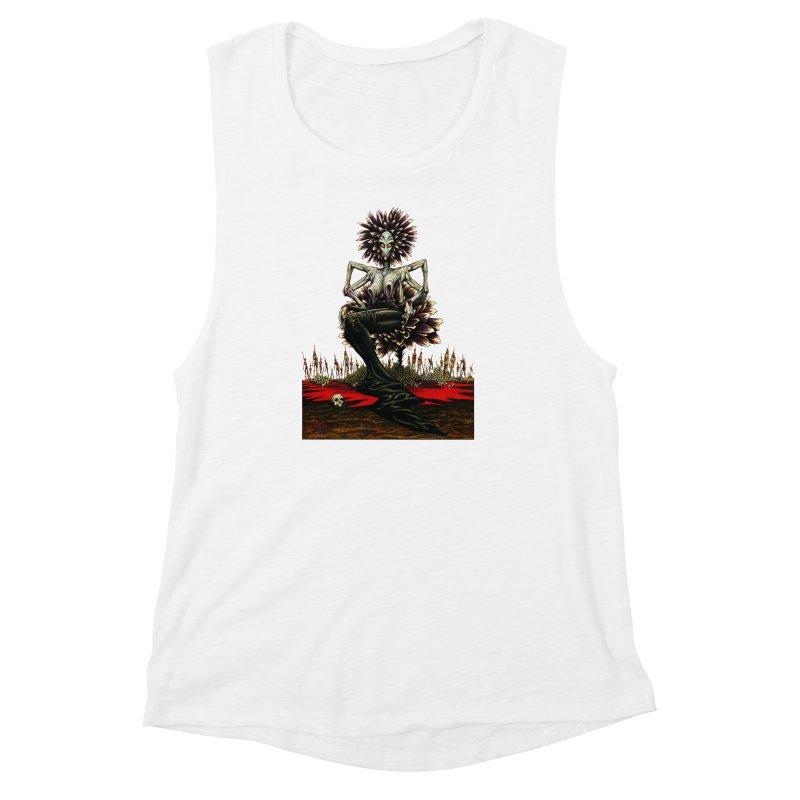 The Pain Sucker Goddess (silhouette) Women's Muscle Tank by Ferran Xalabarder's Artist Shop