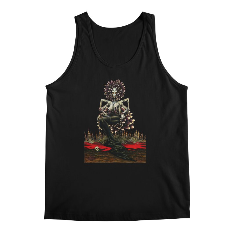 The Pain Sucker Goddess (silhouette) Men's Tank by Ferran Xalabarder's Artist Shop