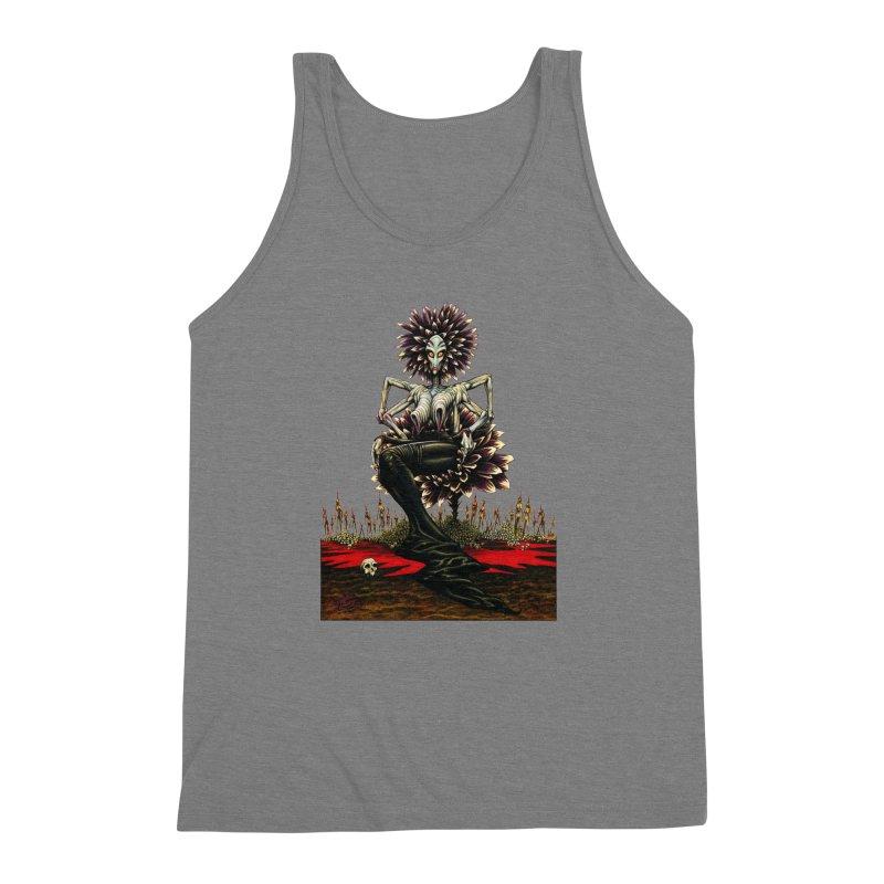 The Pain Sucker Goddess (silhouette) Men's Triblend Tank by Ferran Xalabarder's Artist Shop