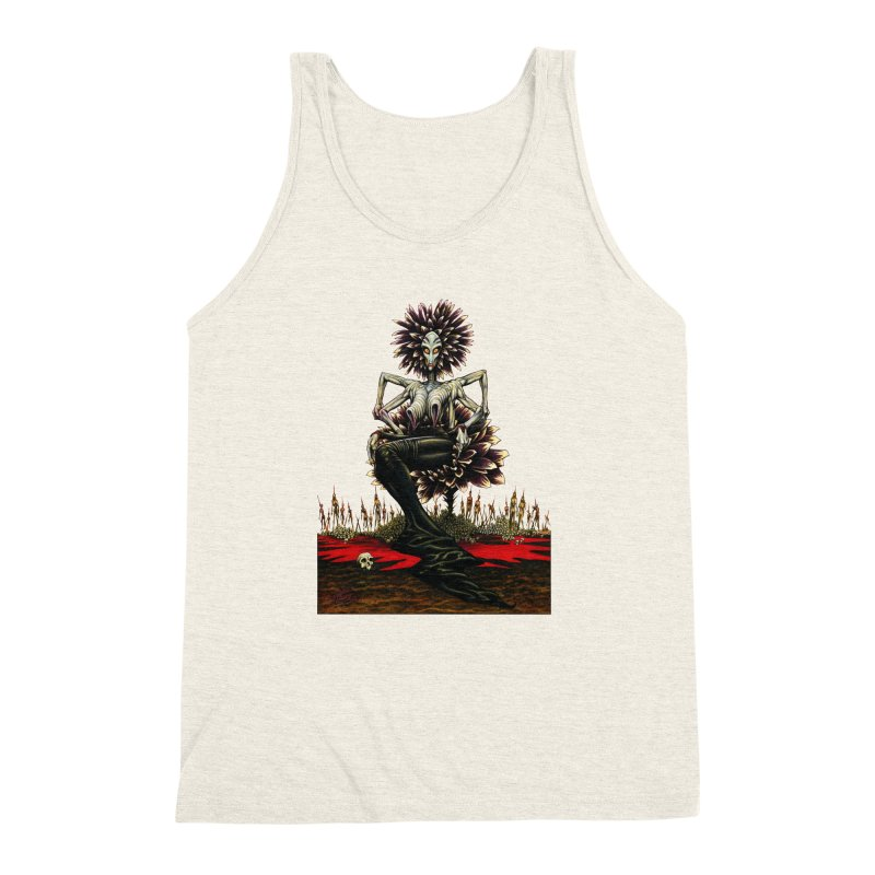 The Pain Sucker Goddess (silhouette) Men's Triblend Tank by Ferran Xalabarder's Artist Shop