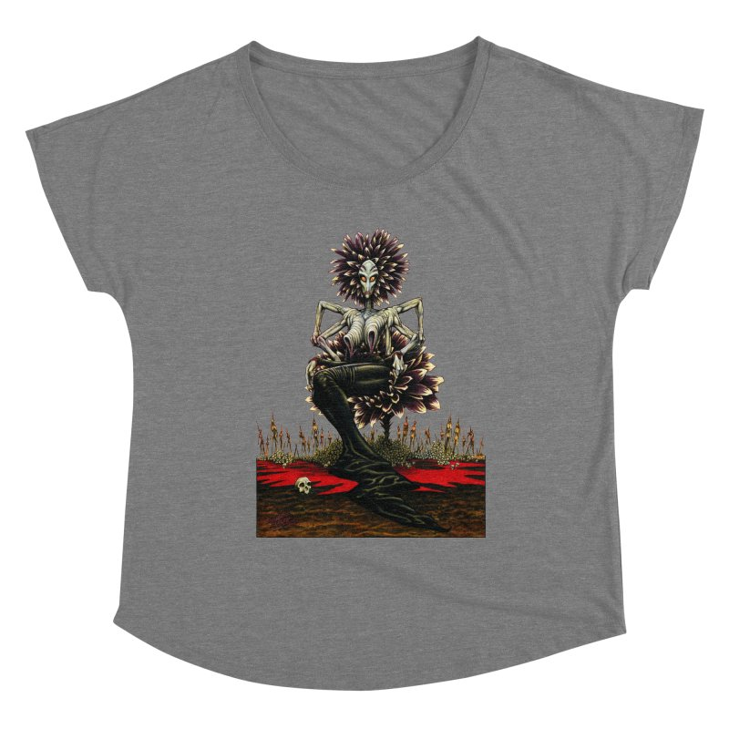 The Pain Sucker Goddess (silhouette) Women's Scoop Neck by Ferran Xalabarder's Artist Shop