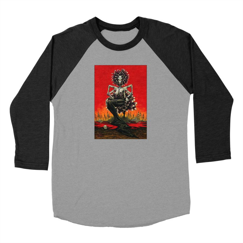 The Pain Sucker Goddess Men's Baseball Triblend Longsleeve T-Shirt by Ferran Xalabarder's Artist Shop