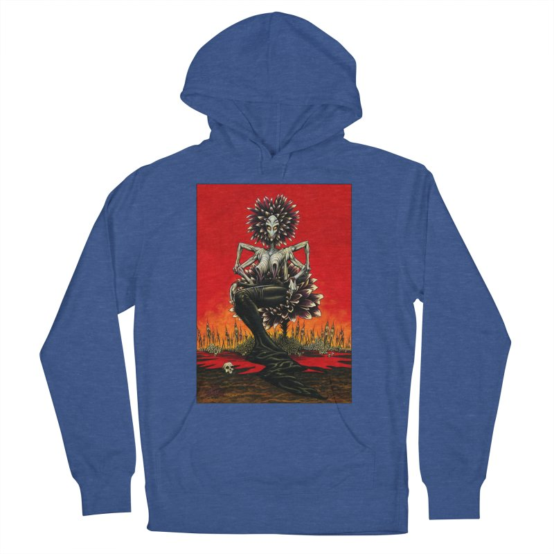 The Pain Sucker Goddess Men's French Terry Pullover Hoody by Ferran Xalabarder's Artist Shop