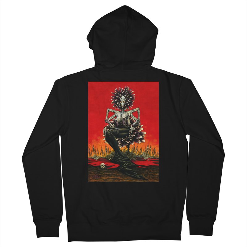 The Pain Sucker Goddess Men's French Terry Zip-Up Hoody by Ferran Xalabarder's Artist Shop