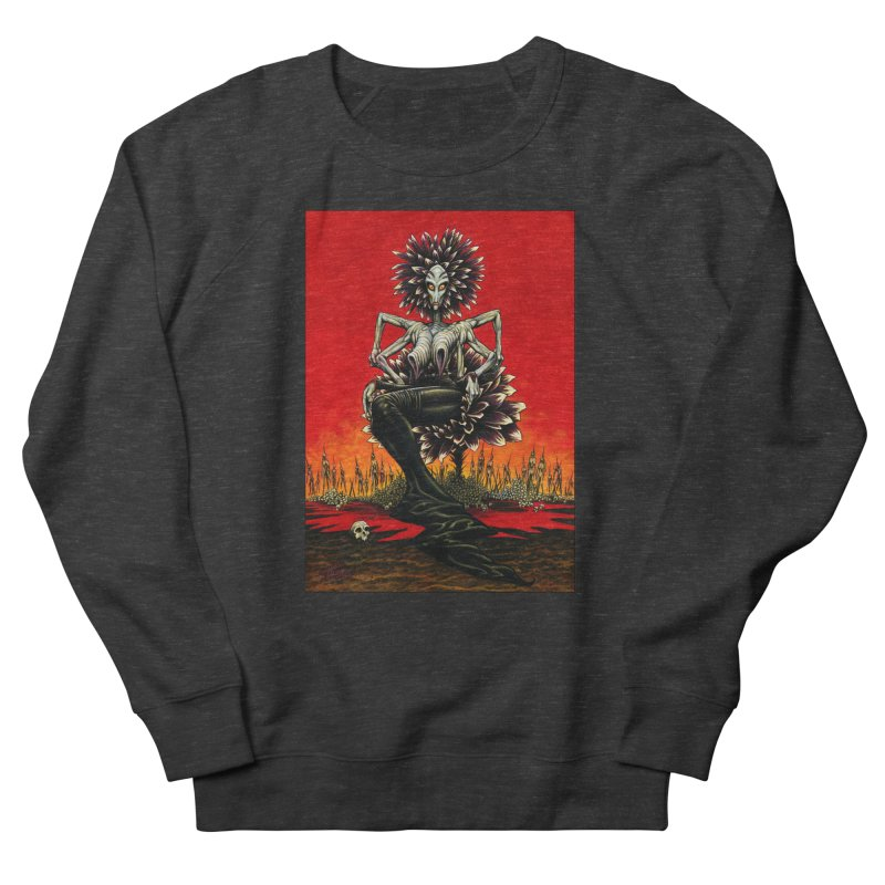 The Pain Sucker Goddess Men's French Terry Sweatshirt by Ferran Xalabarder's Artist Shop