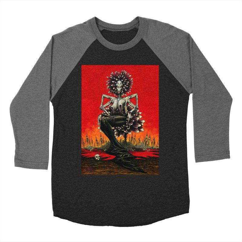 The Pain Sucker Goddess Men's Baseball Triblend T-Shirt by Ferran Xalabarder's Artist Shop