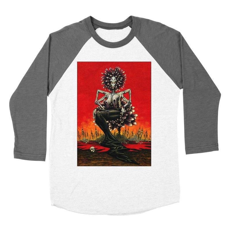 The Pain Sucker Goddess Men's Baseball Triblend Longsleeve T-Shirt by Ferran Xalabarder's Artist Shop
